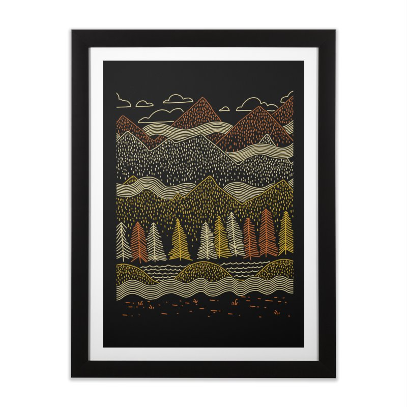 Misty Mountains Home Framed Fine Art Print by Threadless Artist Shop