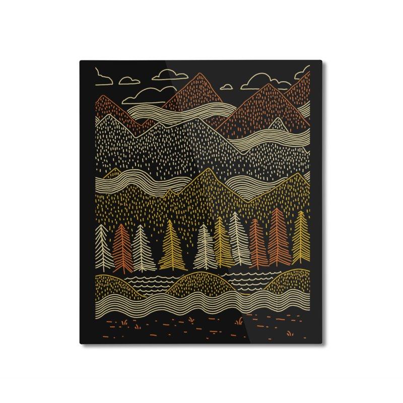 Misty Mountains Home Mounted Aluminum Print by Threadless Artist Shop