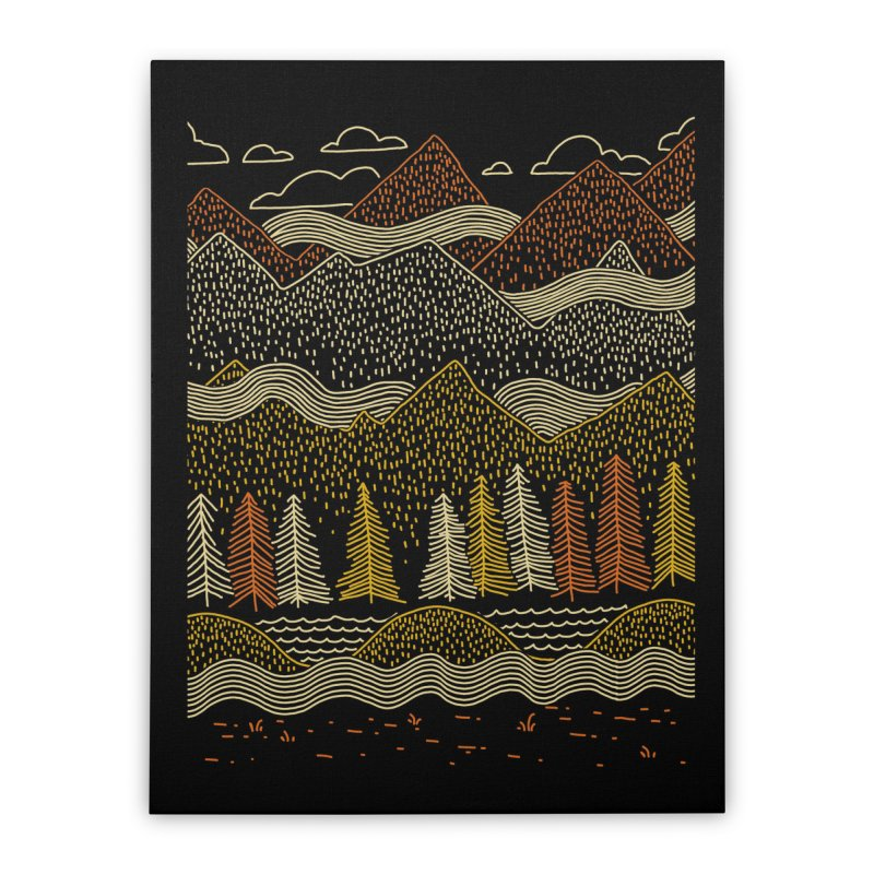 Misty Mountains Home Stretched Canvas by Threadless Artist Shop