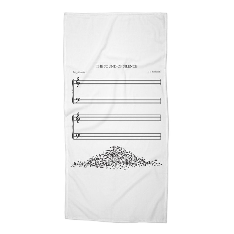The Sound of Silence Accessories Beach Towel by Threadless Artist Shop