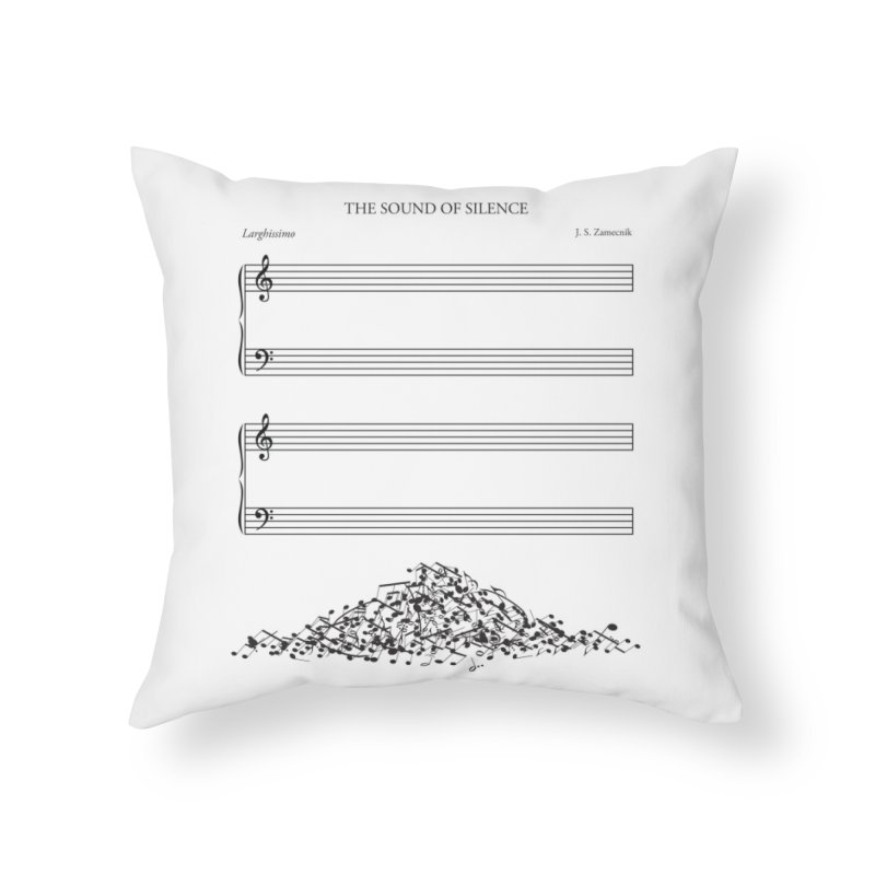 The Sound of Silence Home Throw Pillow by Threadless Artist Shop