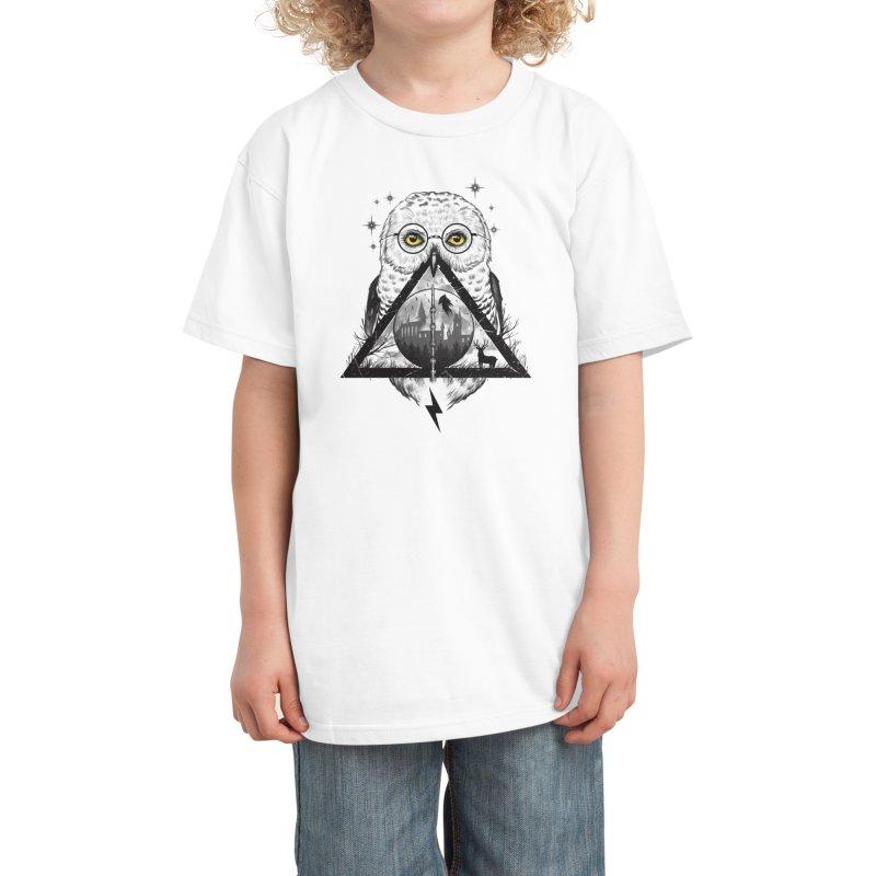 Owls and Wizardry Kids T-Shirt by Threadless Artist Shop