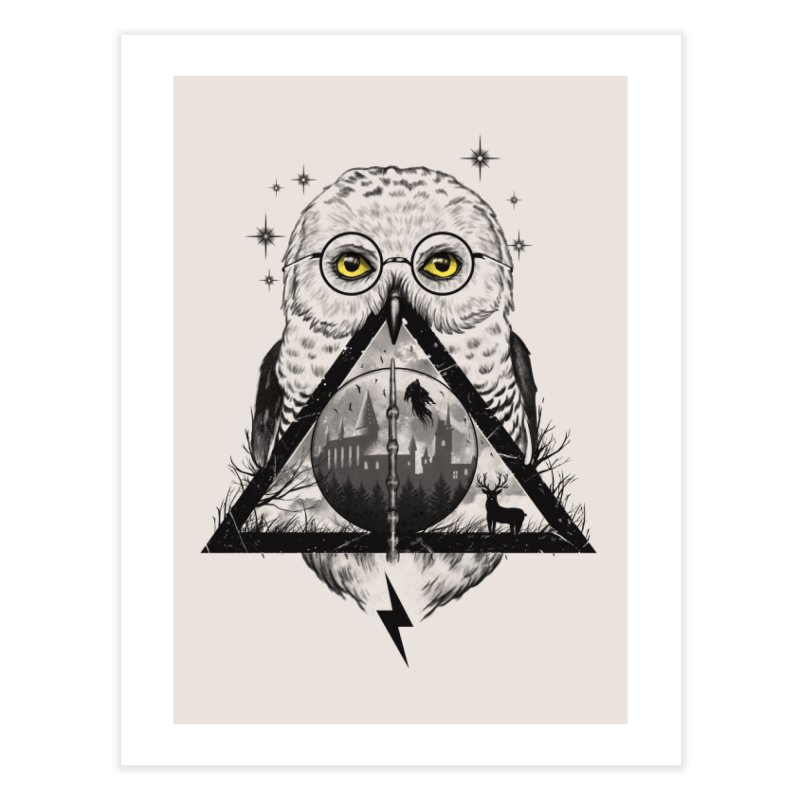 Owls and Wizardry Home Fine Art Print by Threadless Artist Shop