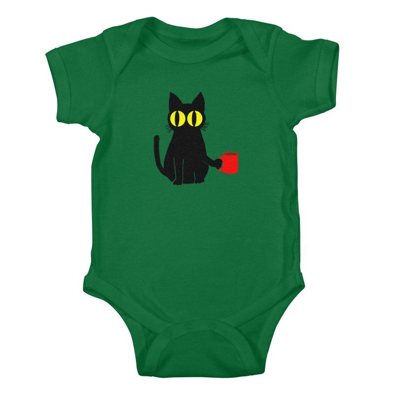 Catfeine Kids Baby Bodysuit by Threadless Artist Shop