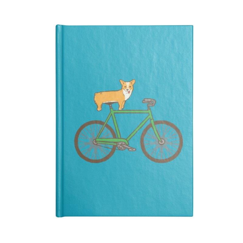 Corgi on a Bike Accessories Notebook by Threadless Artist Shop