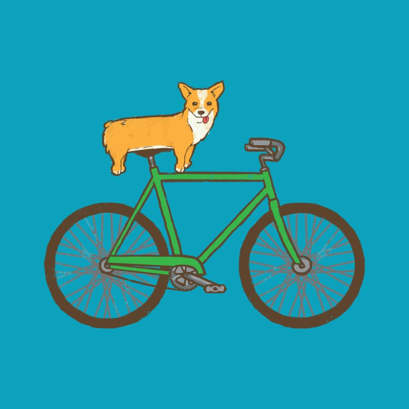 Corgi on a Bike Men's Sweatshirt by Threadless Artist Shop
