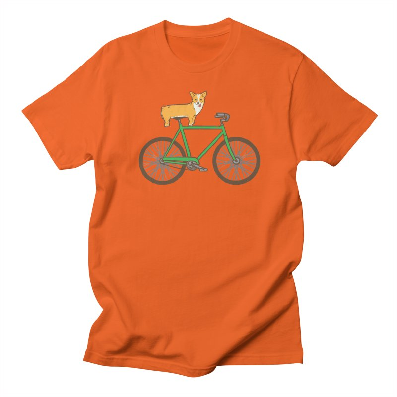 Corgi on a Bike Women's T-Shirt by Threadless Artist Shop