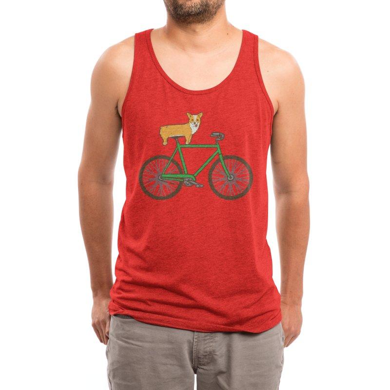 Corgi on a Bike Men's Tank by Threadless Artist Shop