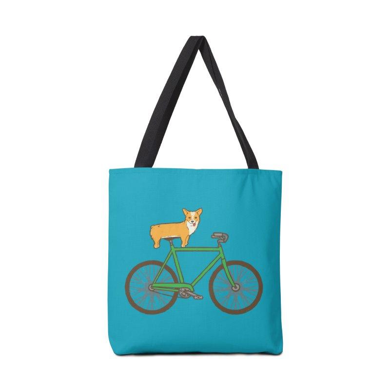 Corgi on a Bike Accessories Bag by Threadless Artist Shop