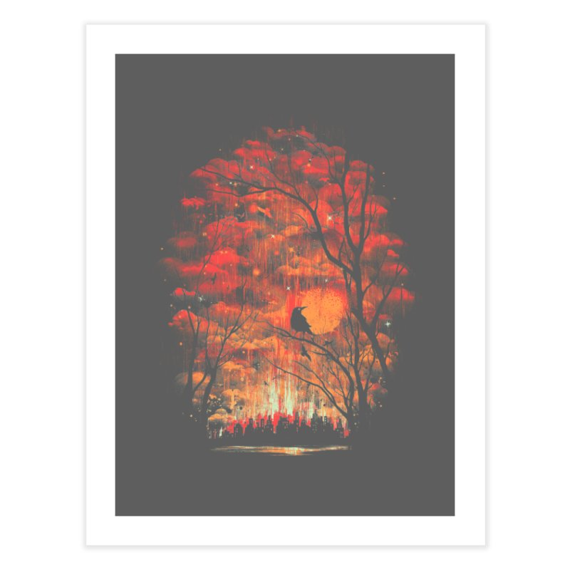 Burning in the Skies Home Fine Art Print by Threadless Artist Shop