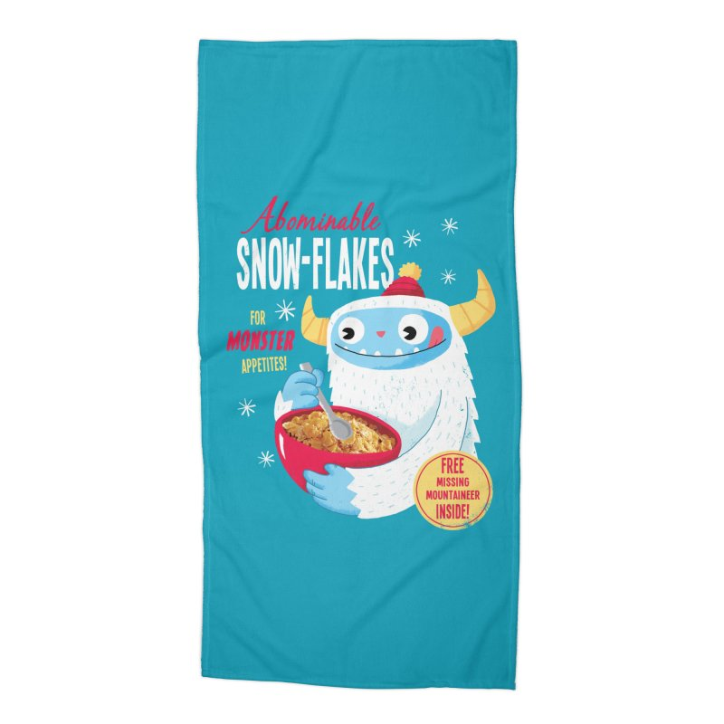 Abominable Snow-Flakes Accessories Beach Towel by Threadless Artist Shop