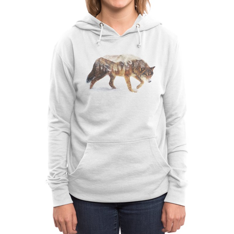 Wolf In The Arctic Women's Pullover Hoody by Threadless Artist Shop