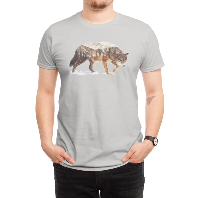 Wolf In The Arctic Men's T-Shirt by Threadless Artist Shop