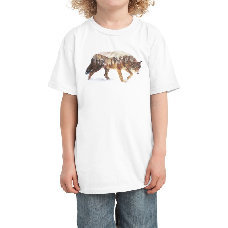 Wolf In The Arctic Kids T-Shirt by Threadless Artist Shop