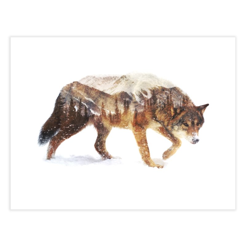 Wolf In The Arctic Home Fine Art Print by Threadless Artist Shop