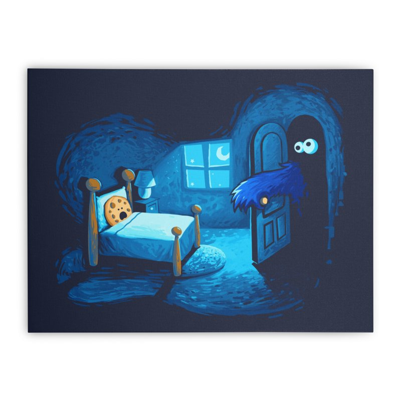 Monster in the Closet Home Stretched Canvas by Threadless Artist Shop