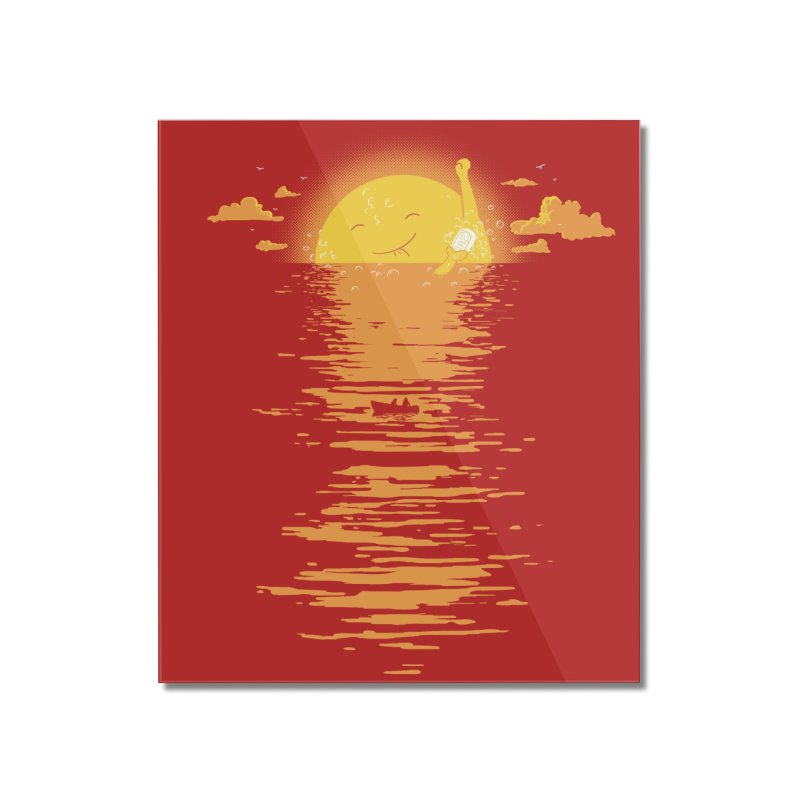 Cooling Down Home Mounted Acrylic Print by Threadless Artist Shop