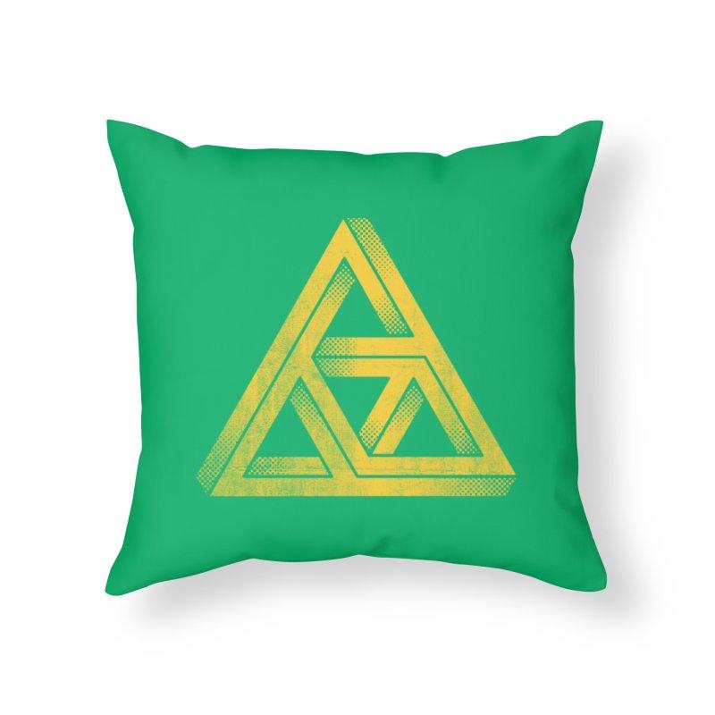Penrose Triforce Home Throw Pillow by Threadless Artist Shop