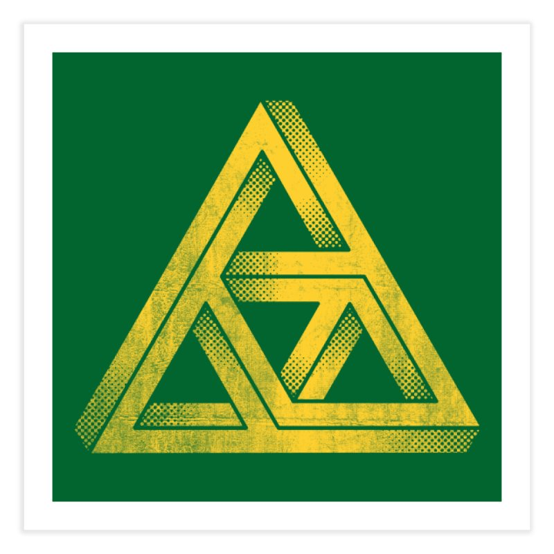 Penrose Triforce Home Fine Art Print by Threadless Artist Shop