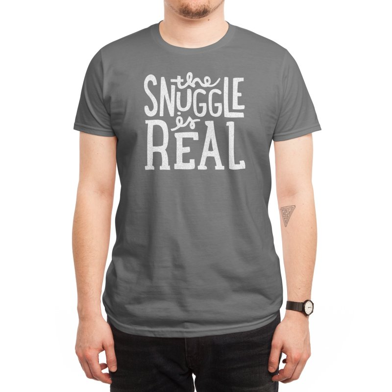 The Snuggle is Real Men's T-Shirt by Threadless Artist Shop