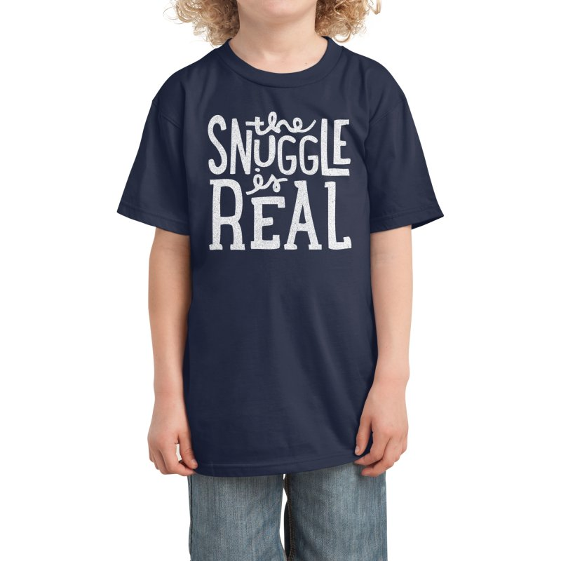 The Snuggle is Real Kids T-Shirt by Threadless Artist Shop