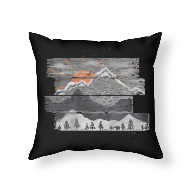 Into the Grey... Home Throw Pillow by Threadless Artist Shop