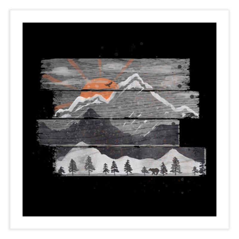 Into the Grey... Home Fine Art Print by Threadless Artist Shop