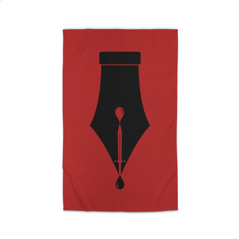 The Pen is Mightier than the Sword Home Rug by Threadless Artist Shop