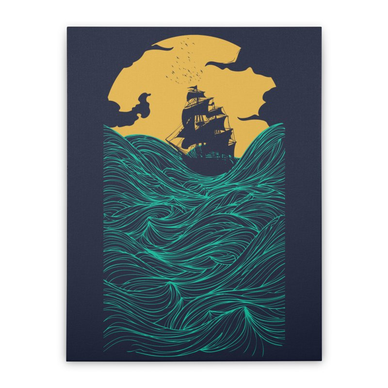 High Seas Home Stretched Canvas by Threadless Artist Shop