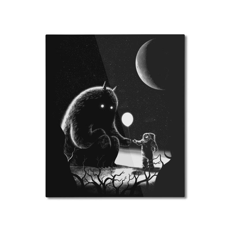 The Guest Home Mounted Aluminum Print by Threadless Artist Shop