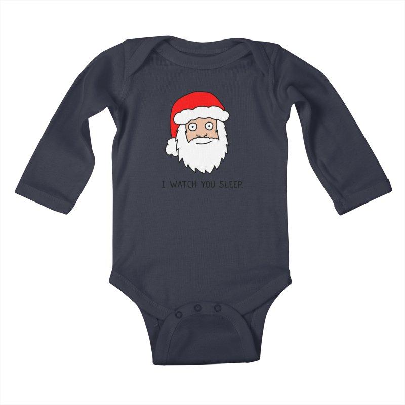 Creepy Santa Kids Baby Longsleeve Bodysuit by Threadless Artist Shop