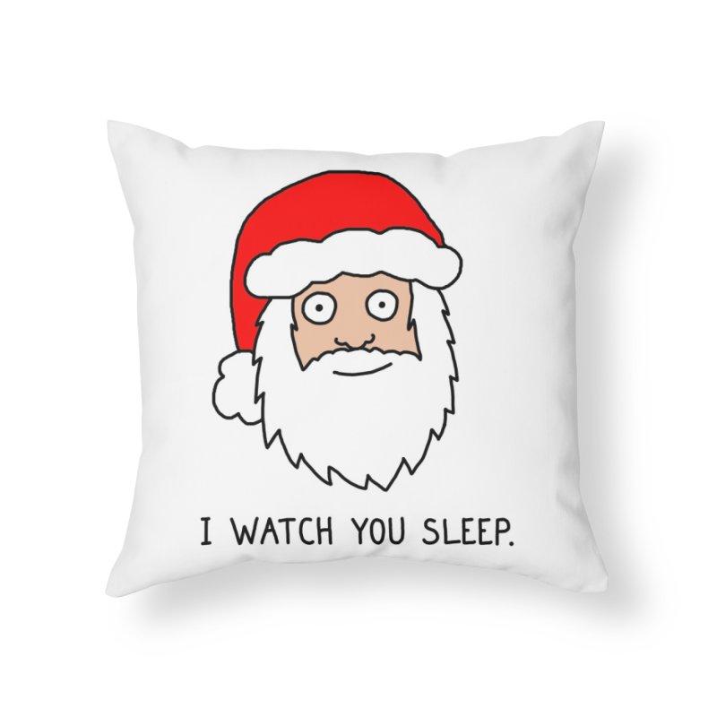 Creepy Santa Home Throw Pillow by Threadless Artist Shop