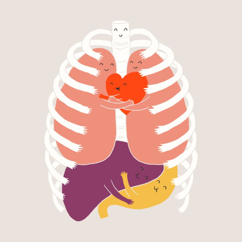 Hugs Keep Us Alive! Men's T-Shirt by Threadless Artist Shop