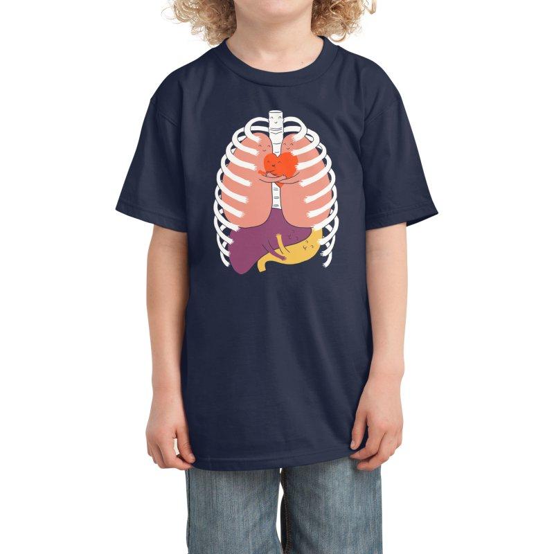 Hugs Keep Us Alive! Kids T-Shirt by Threadless Artist Shop