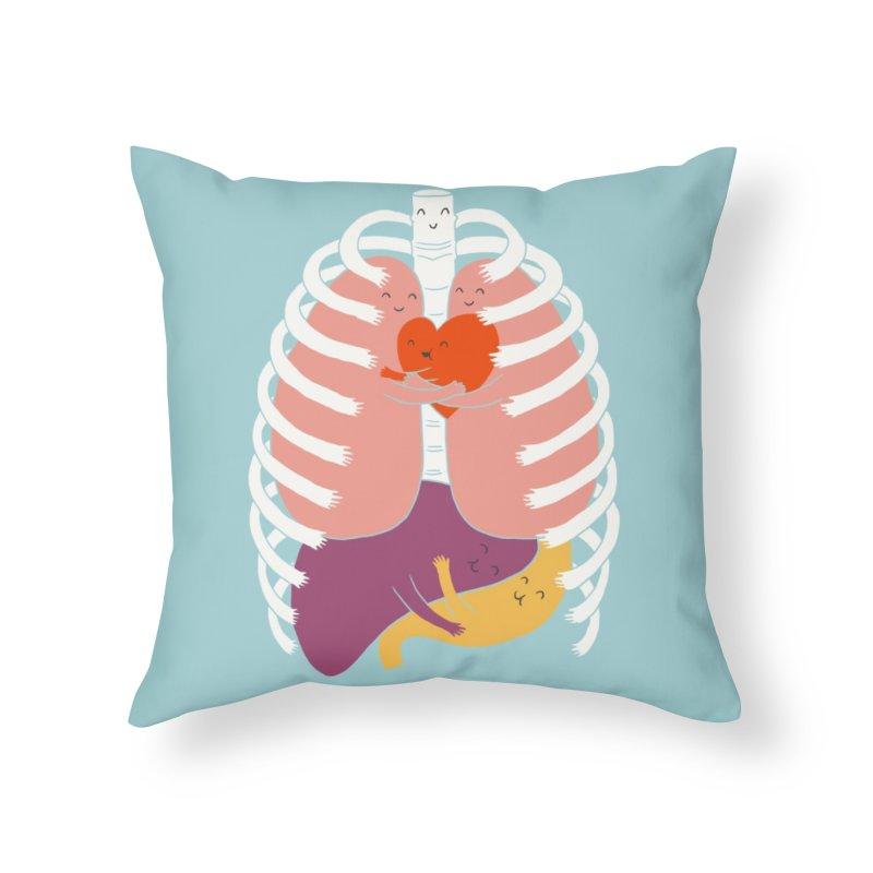 Hugs Keep Us Alive! Home Throw Pillow by Threadless Artist Shop