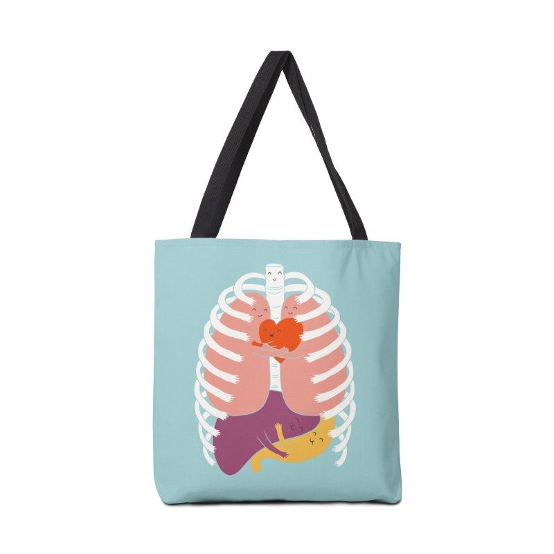 Hugs Keep Us Alive! Accessories Bag by Threadless Artist Shop