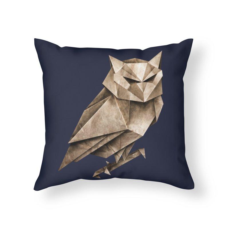 Owligami Home Throw Pillow by Threadless Artist Shop