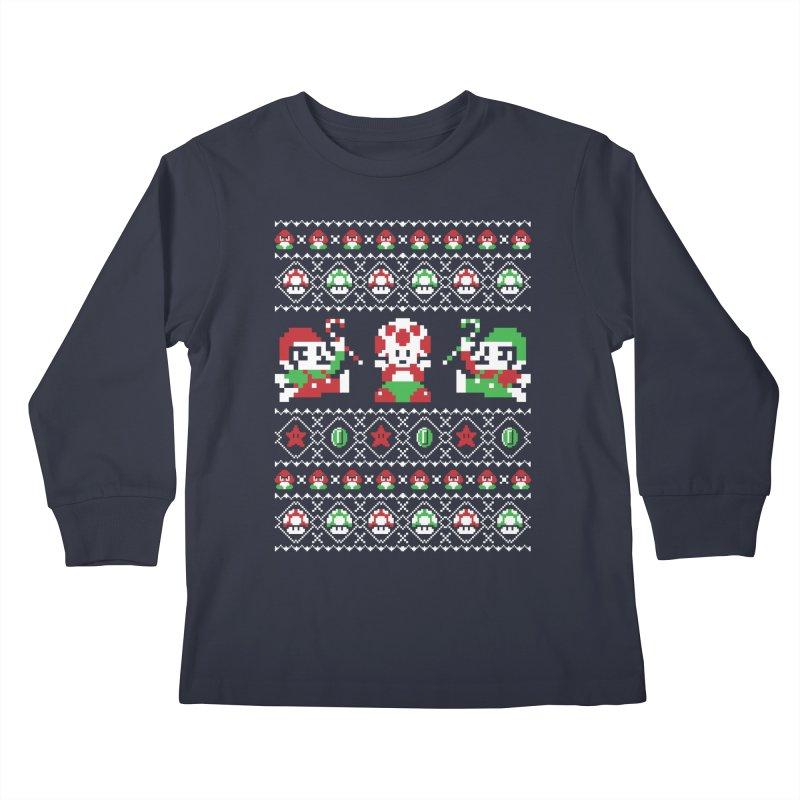 Super Christmas Bros Kids Longsleeve T-Shirt by Threadless Artist Shop
