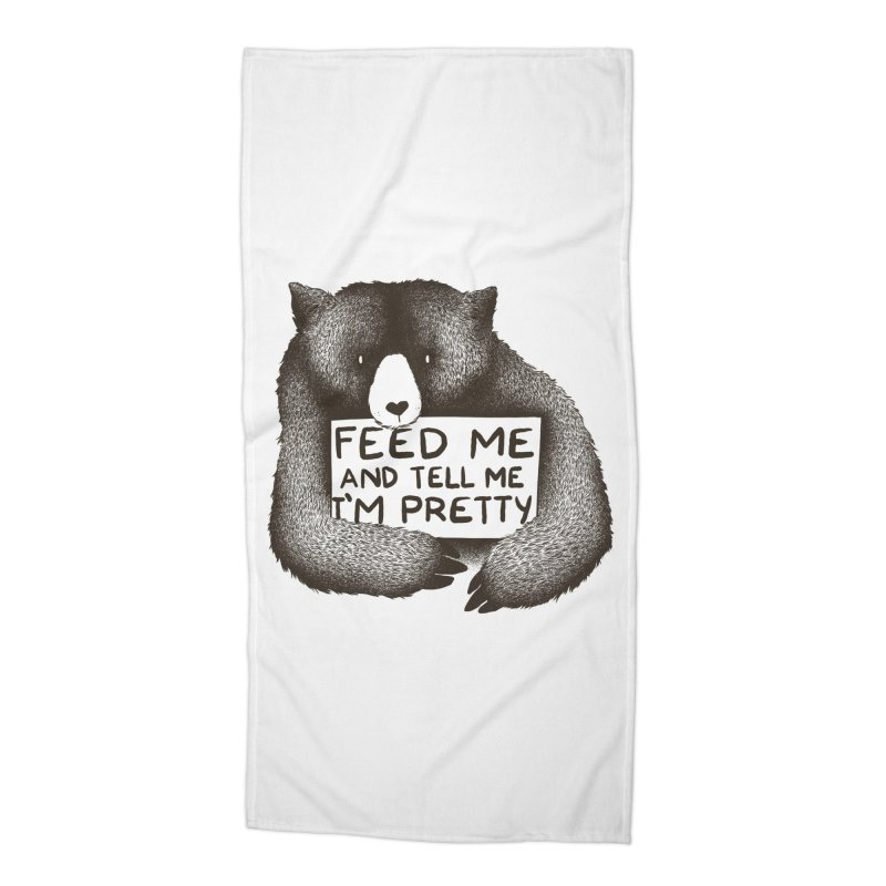 Feed Me And Tell Me I'm Pretty Accessories Beach Towel by Threadless Artist Shop