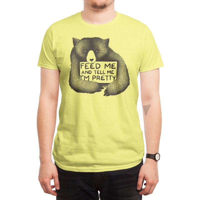 Feed Me And Tell Me I'm Pretty Men's T-Shirt by Threadless Artist Shop