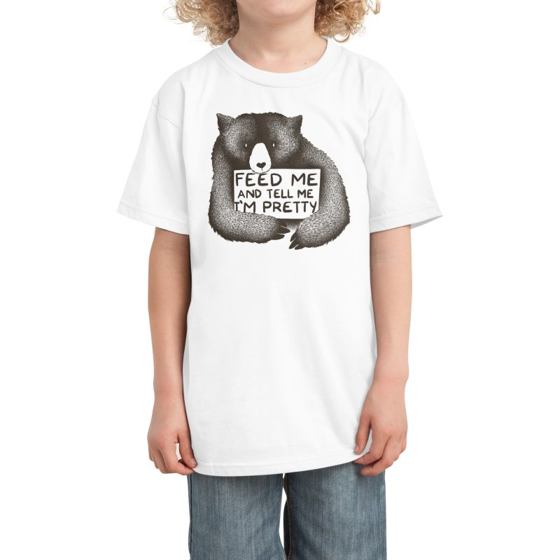 Feed Me And Tell Me I'm Pretty Kids T-Shirt by Threadless Artist Shop