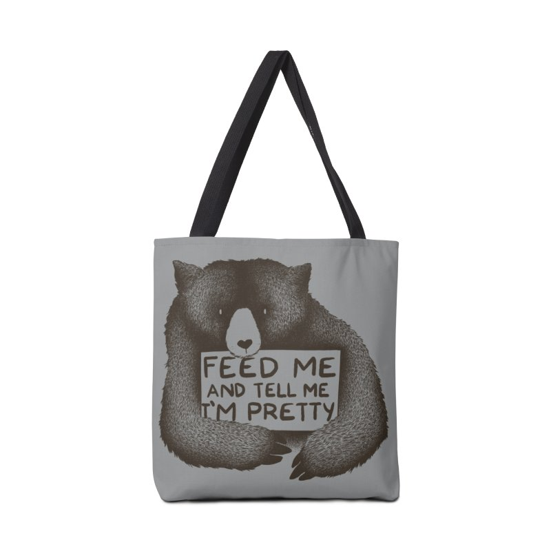 Feed Me And Tell Me I'm Pretty Accessories Bag by Threadless Artist Shop