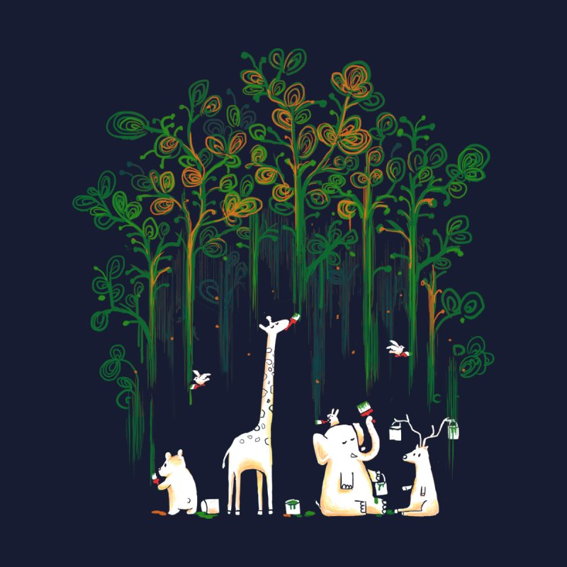 Meanwhile In The Woods Women's T-Shirt by Threadless Artist Shop