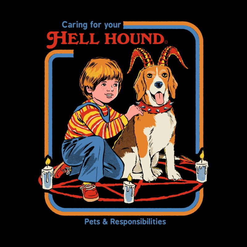 Caring for Your Hell Hound Home Blanket by Threadless Artist Shop