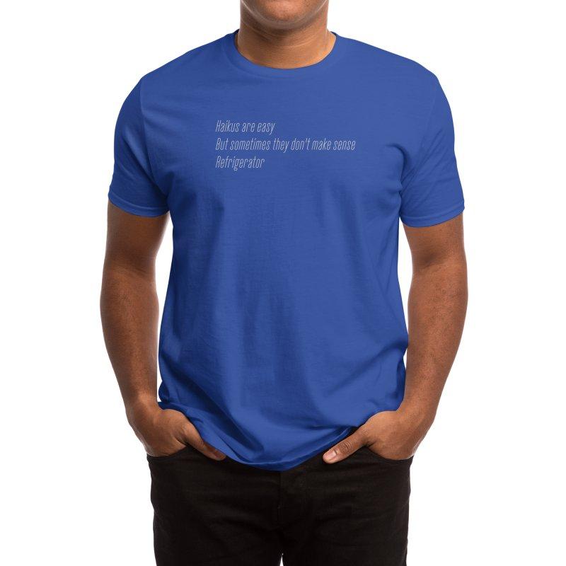Haikus Are Easy, But Sometimes... Men's T-Shirt by Threadless Artist Shop