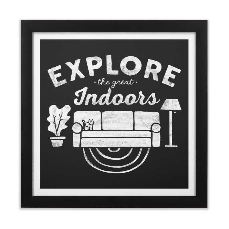 The Great Indoors Home Framed Fine Art Print by Threadless Artist Shop