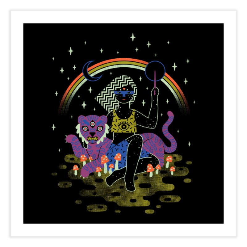 Psychedelic Sorceress Home Fine Art Print by Threadless Artist Shop