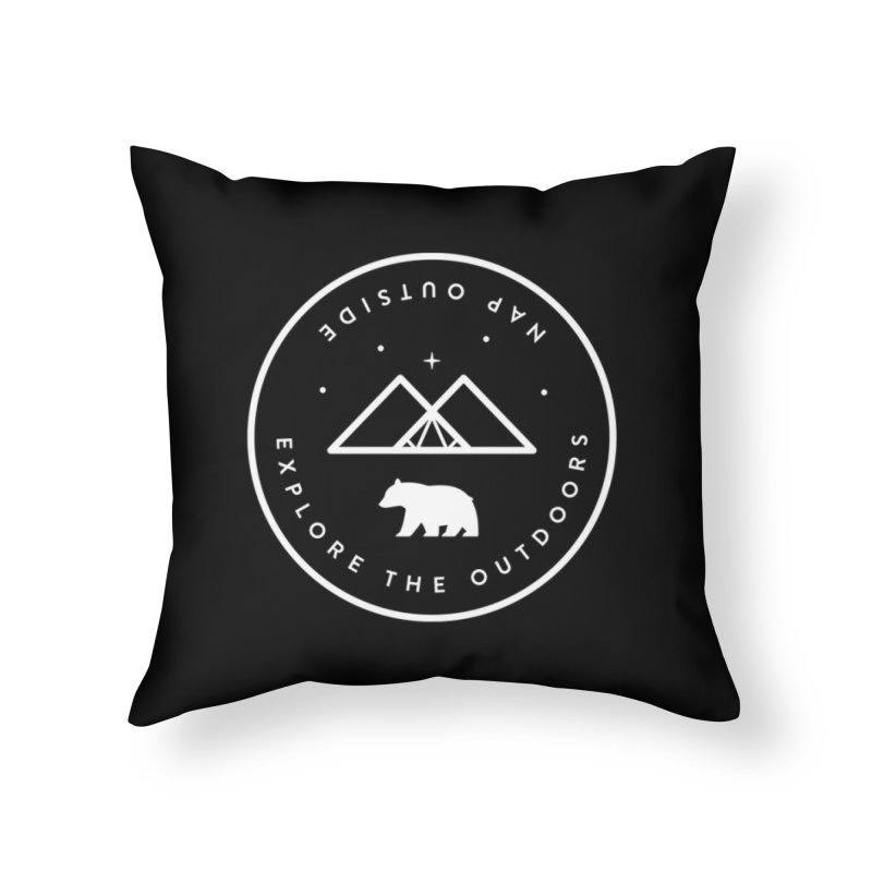 Nap Outside Home Throw Pillow by Threadless Artist Shop