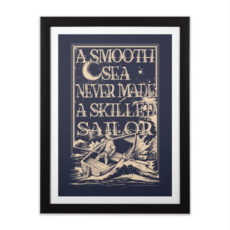 A Smooth Sea Home Framed Fine Art Print by Threadless Artist Shop