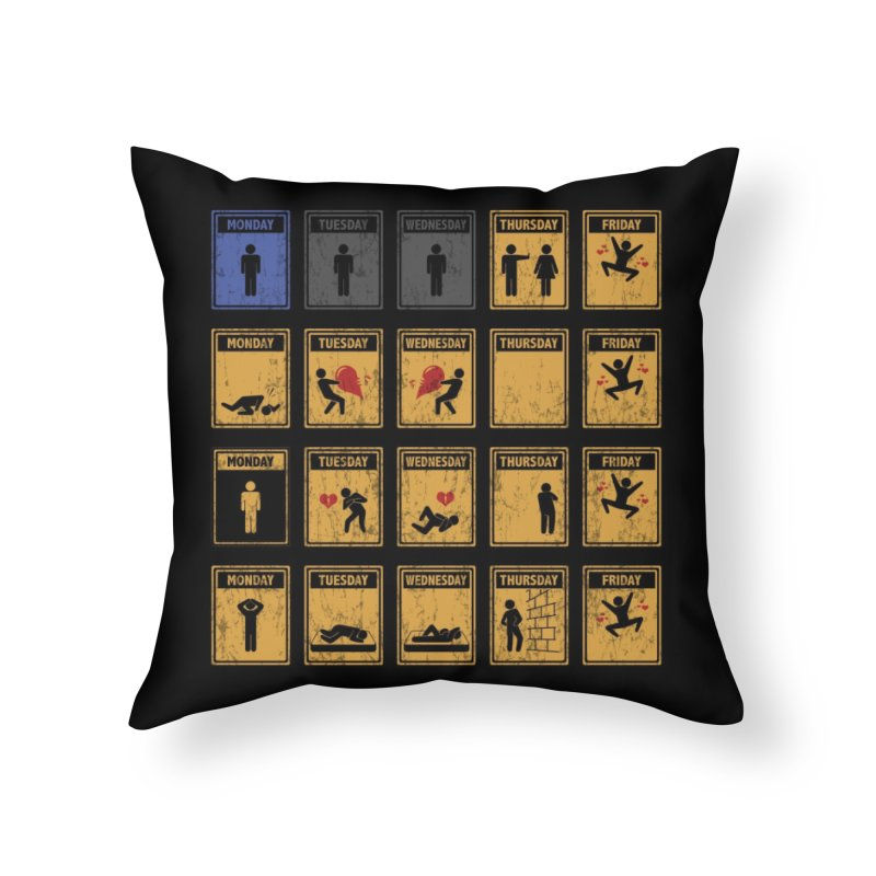 Friday, I'm In Love! Home Throw Pillow by Threadless Artist Shop